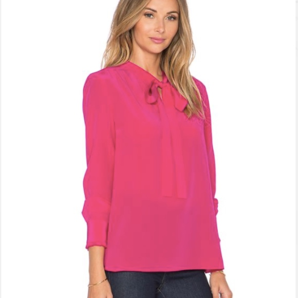 647d8c20bbc4 kate spade Tops - Kate spade sm red pussy bow blouse viscose